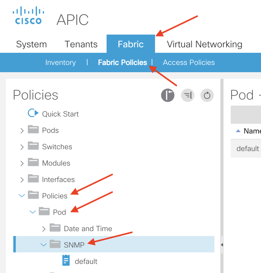 SNMP Configuration in ACI – How to ACI